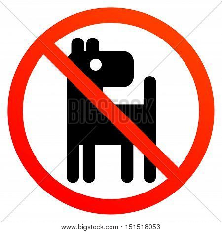 No dogs or pets sign, vector illustration