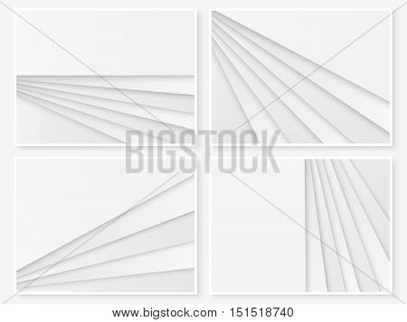 Material Design Background Set Paper Templates White 2