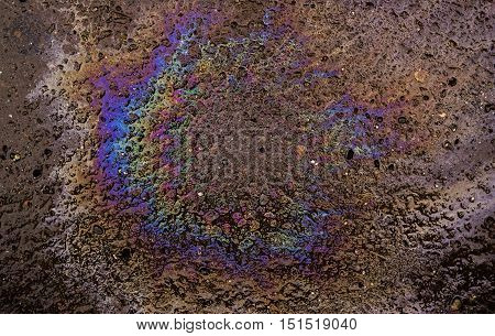 Diesel spot, abstract benzine spot, petrol, abstract background
