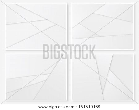 Material design backgrounds. Modern paper templates. Geometric banners. Material design style illustration. Simple vector for web design and business printed products.
