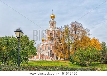 Church of the Intercession at Fili district in Moscow Russia