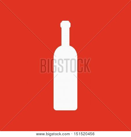 The wine bottle icon. Bottle symbol. Flat Vector illustration