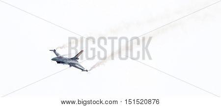Leeuwarden, The Netherlands-june 10, 2016: Belgium - Air Force General Dynamics F-16 Am At The Dutch