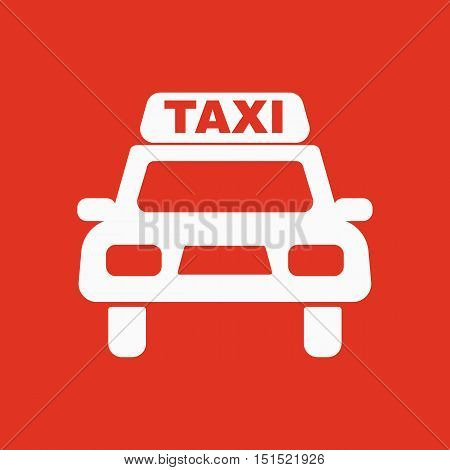 The taxi icon. Taxicab symbol. Flat Vector illustration