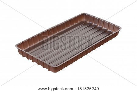 Inner Tray of Chocolate package isolated on white background