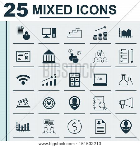 Set Of 25 Universal Icons On Discussion, Focus Group, Wireless And More Topics. Vector Icon Set Incl