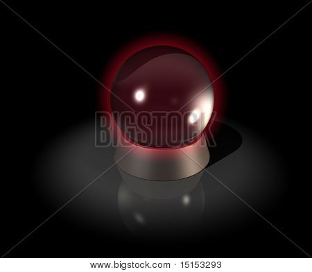 A glowing crystal ball