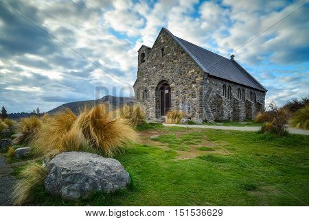 Church of the Good Shepherd built since 1935 Lake Tekapo New Zealand