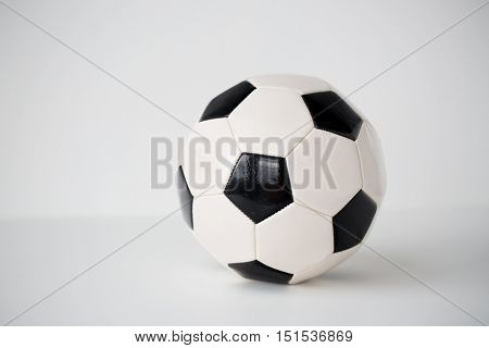 sport, soccer, football and sports equipment concept - close up of ball