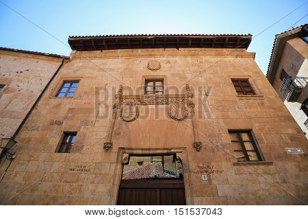 Casa De Francisco De Solis In Salamanca, Spain