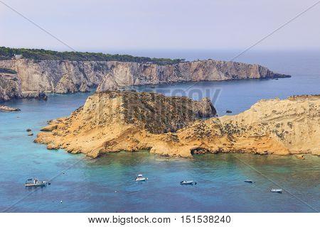 Summertime.Tremiti archipelago: views of San Domino and Cretaccio islands. Gargano National Park (Apulia) ITALY.