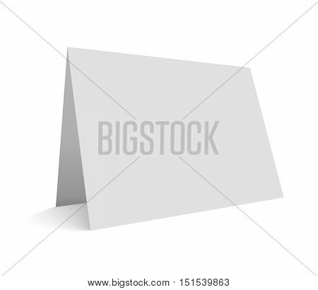 Blank vector illustration greeting card isolated on white. Empty mockup ready for card presentation.