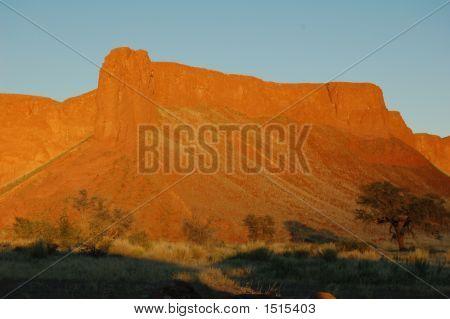 Landscapenamibiasunset Turning Hills To Gold