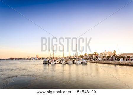 Marina On Arade River In Portimao, Portugal