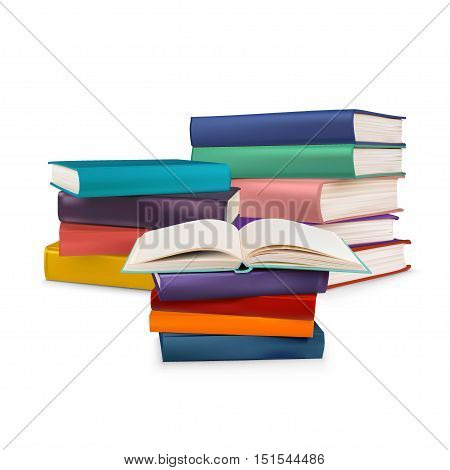 Book collection isolated on a white background, vector