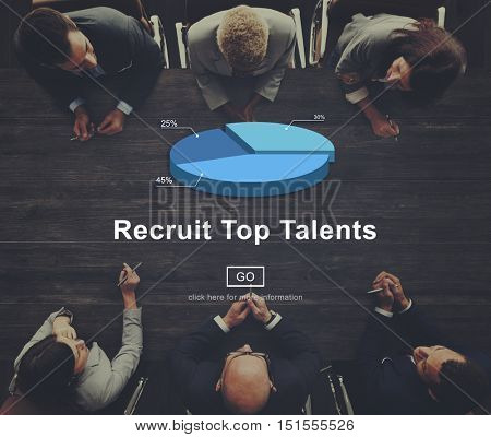 Recruitment Hiring Talented Head hunting Career Concept
