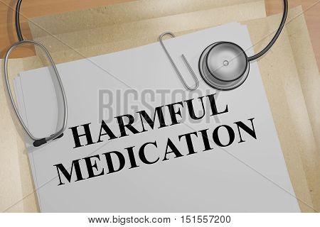 Harmful Medication Concept