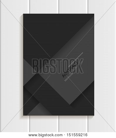 Stock vector illustration of black brochure in material design style