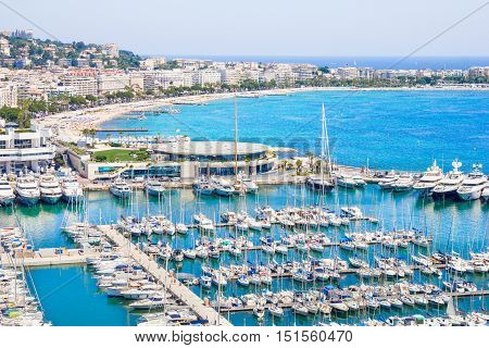 Aerial view of Cannes, south of France