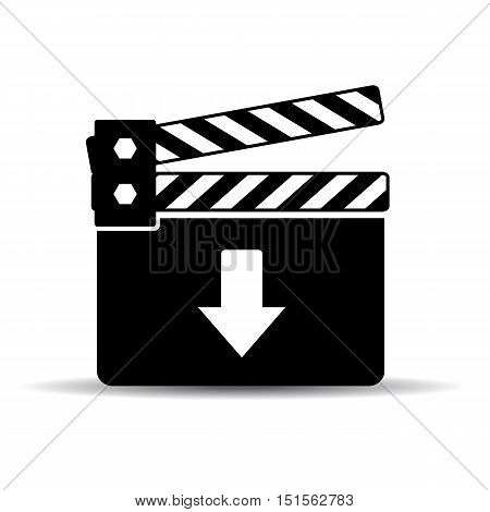 Download video icon vector illustration isolated on white background
