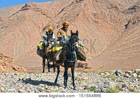 Berbers Are Indigenous People To Atlas Mountains Of Morocco.