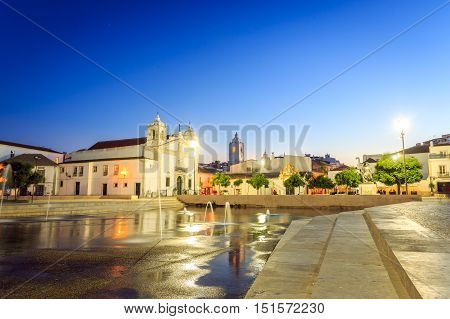 Santa Maria Church And Governors Castle In Lagos, Portugal
