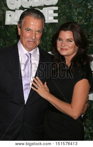 LOS ANGELES - OCT 10:  Eric Braeden, Heather Tom at the CBS Daytime #1 for 30 Years Exhibit Reception at the Paley Center For Media on October 10, 2016 in Beverly Hills, CA