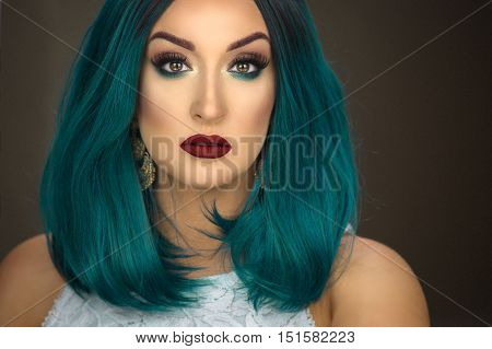 Woman With Green Hair