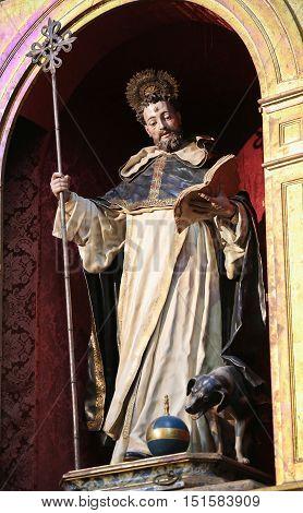 Statue Of St Dominic In Salamanca