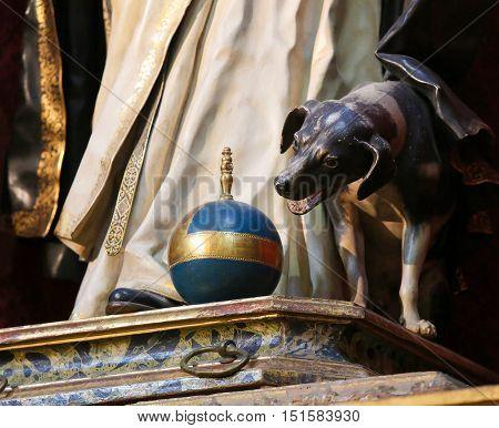 Statue Of A Dog In Salamanca
