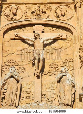 Calvary Scene - Bas Relief At The Convento De San Esteban, Salamanca