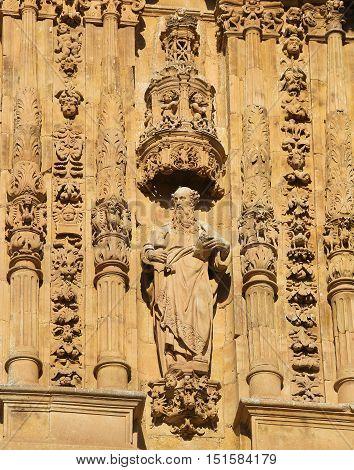 Saint Paul At The Facade Of Convento De San Esteban, Salamanca