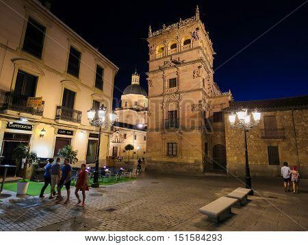 Palacio De Monterrey In Salamanca, Spain, By Night