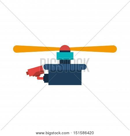 drone with camera and one airscrew vector illustration