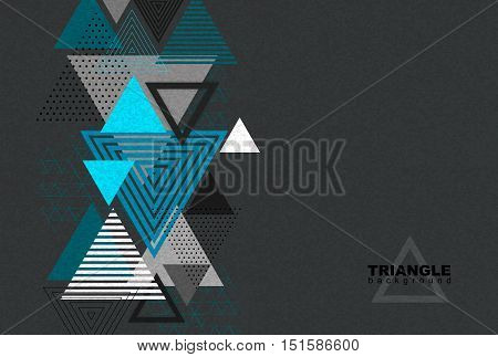 Abstract hipster polygon triangle background. Triangle pattern background.