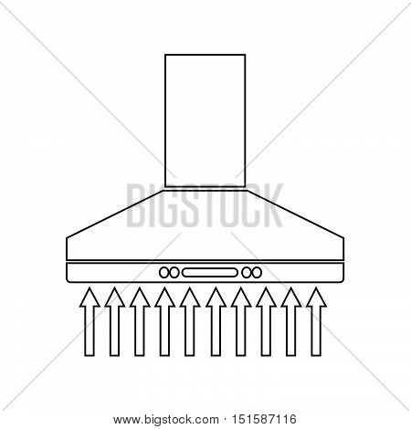an images of extractor hood icon illustration design