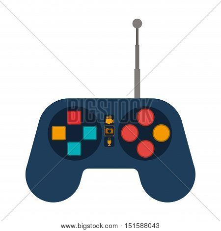 remote control for drones with antenna vector illustration
