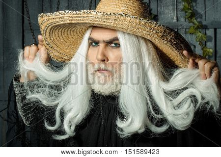 Bearded Old Man In Hat