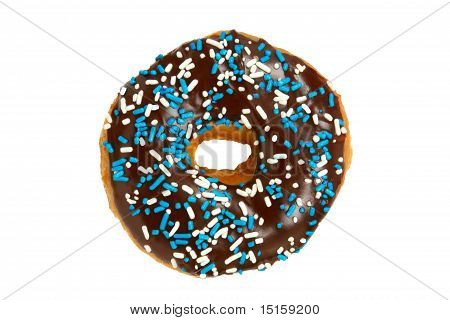 Donut with Chocolate Icing and Sprinkles