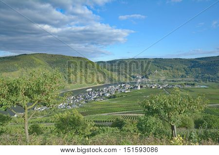 Wine Villages of Beilstein and Ellenz-Poltersdorf near Cochem at Mosel River,Mosel Valley,Rhineland-Palatinate,Germany
