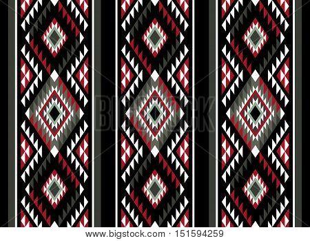 A Vertical Classic Colors Sadu Pattern Motif