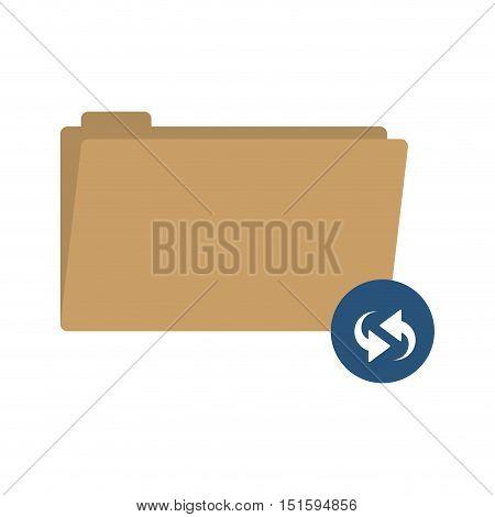 folder symbol to update files vector illustration