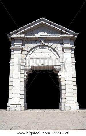 Triumphal Arch Isolated In Black
