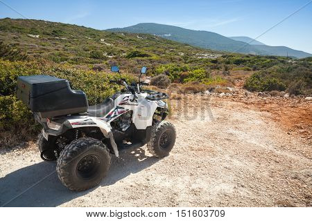 White Atv Quad Bike Aeon Overland 200