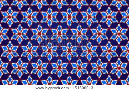 Abstract Geometric Stars Pattern Background Fabric Design