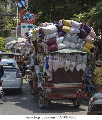 Crazy Transport In Phnom Phen