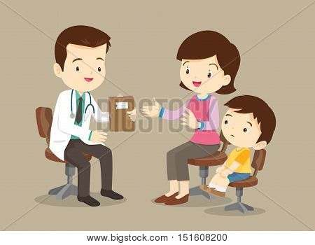 Mother And Son See Doctor