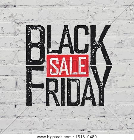 Black Friday Typography on brick wall texture