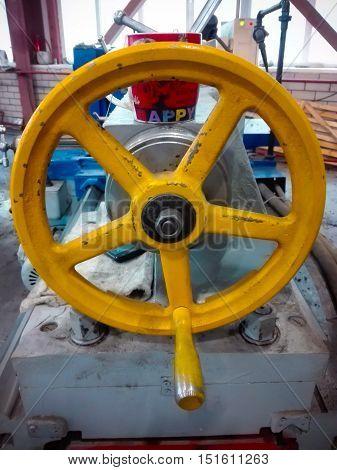 Happy Yellow Iron Helm