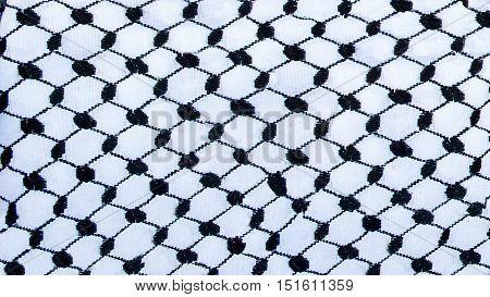 Detail of a texture of traditional jordanian headkerchief